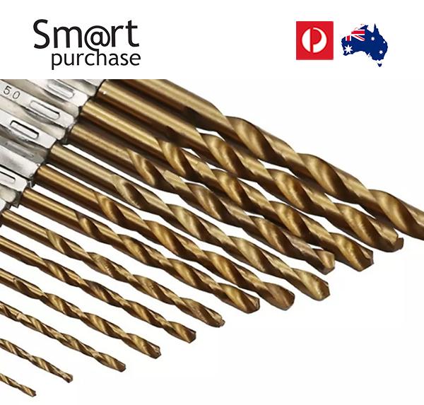 13 Pcs Hex Shank Titanium Coated Drill Bit Set Power Drill Bit