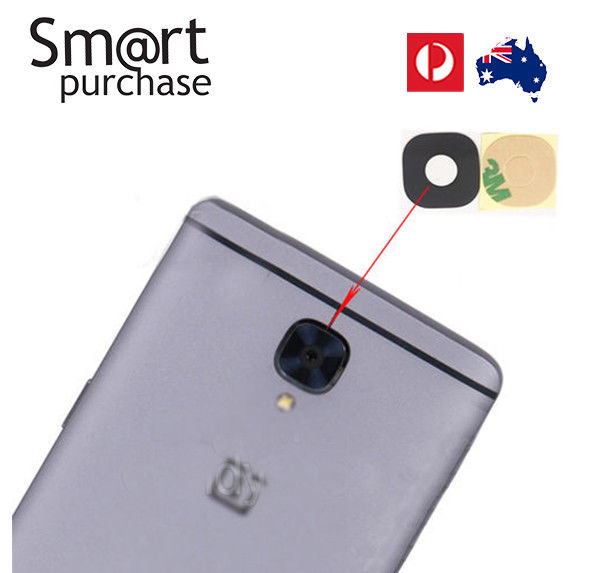 official photos a2233 15d6e Genuine Rear Back Camera Lens Glass with 3M glue stickers for OnePlus 3,3T