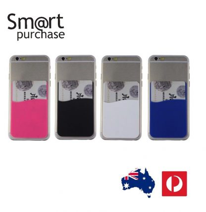 more photos bd8b0 9823a 3M Adhesive Colors Smart Phone Silicone Wallet Opal Card Holder